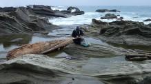項鍊海邊畫