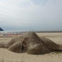 20190927拉黑子釜山雙年展作品-「如果沙灘上有小島」-2