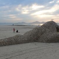 20190927拉黑子釜山雙年展作品-「如果沙灘上有小島」-小島的夕陽